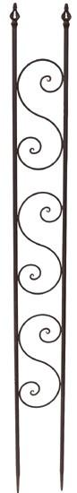 INSINNA Rankgitter-150 cm , dunkelrostfarben lackiertes Schmiedeeisen